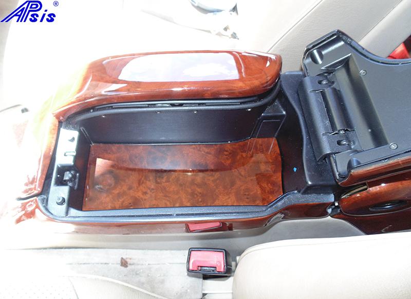 W140 Split Armrest Inside Base-burlwood-installed-1