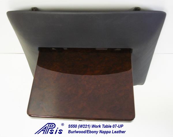 W220 Work Table-ebony nappa-individual-flip down-straight view-3