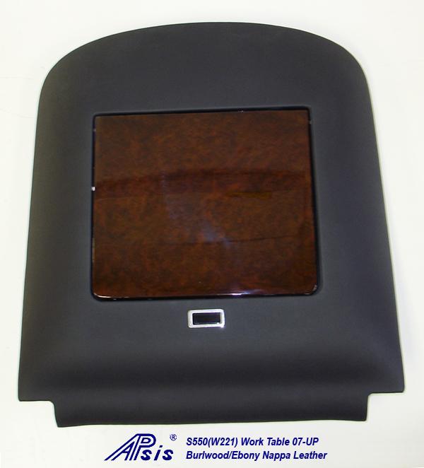 W220 Work Table-ebony nappa-individual-straight view-3a