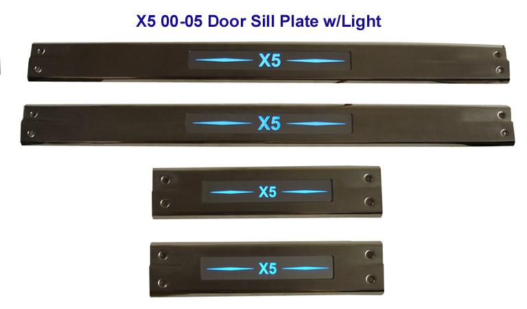 X5 00-05 Door Sill Plate w-Light 72P- 768