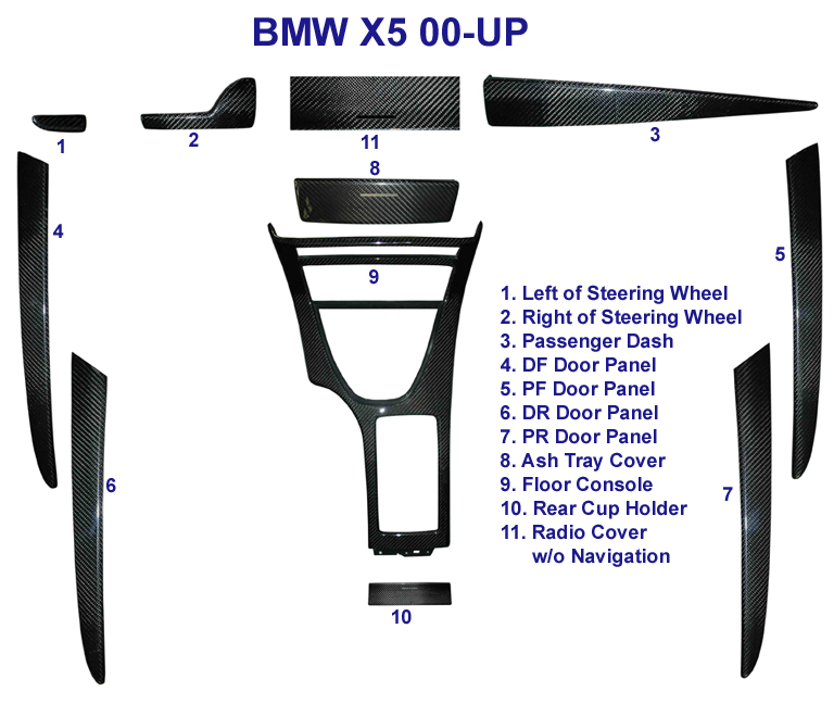 X5 Black Carbon Whole Images - 768 - diagram