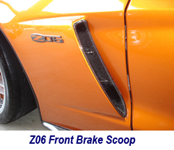 Z06 Carbon Front Brake Scoop-installed on AO 250