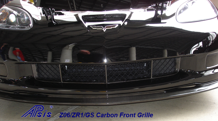 Z06 Carbon Front Grille-installed on black car-1