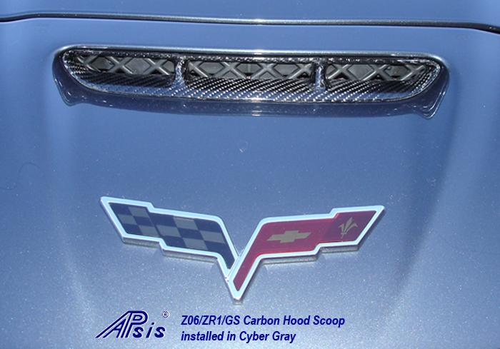 Z06 Carbon Hood Scoop-installed on CG-1