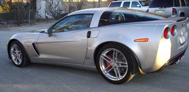 Z06 Front Splash Guard-installed-Driver Side Full View-750