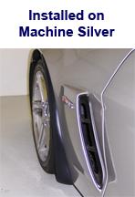 Z06 Front Splash Guard installed on Machine Silver