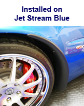 Z06 Front Splash Guard installed on jet stream blue
