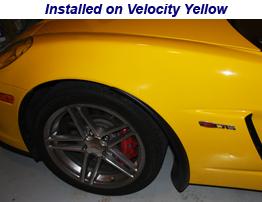Z06 Front Splash Guard installed on velocity yellow
