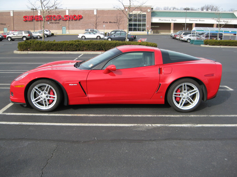 Z06 Front Splash Guard-installed-victory red-solaris-1