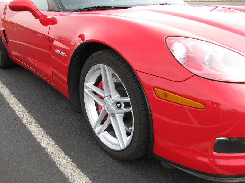 Z06 Front Splash Guard-installed-victory red-solaris-3