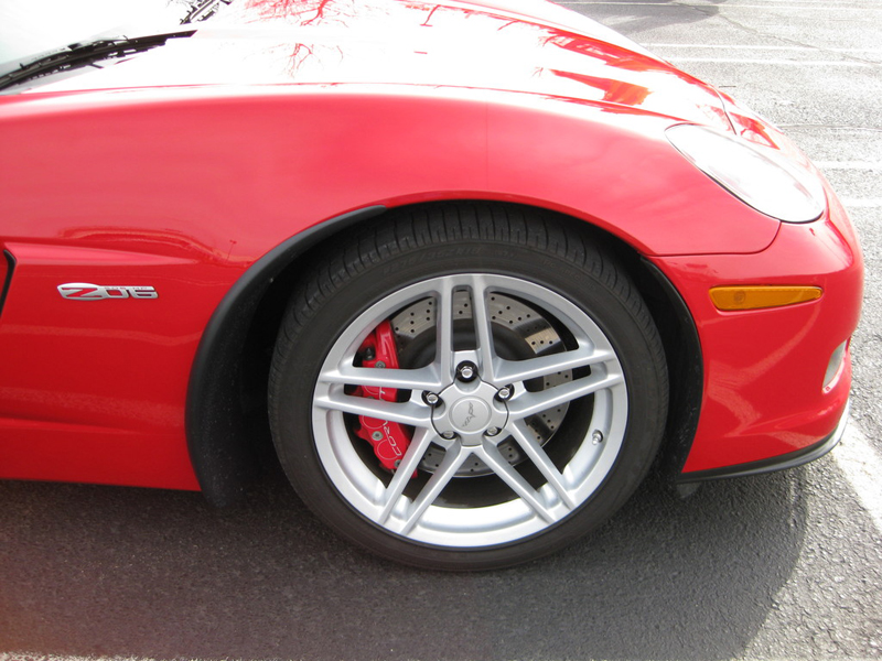 Z06 Front Splash Guard-installed-victory red-solaris-4