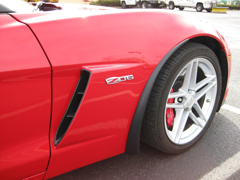 Z06 Front Splash Guard-installed-victory red-solaris-5