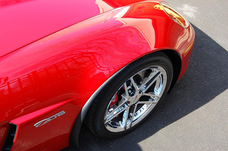Z06 Front Splash Guard on victory red from philip defranco-4-750x563