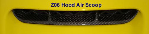 Z06 Hood Air Scoop - Black CF