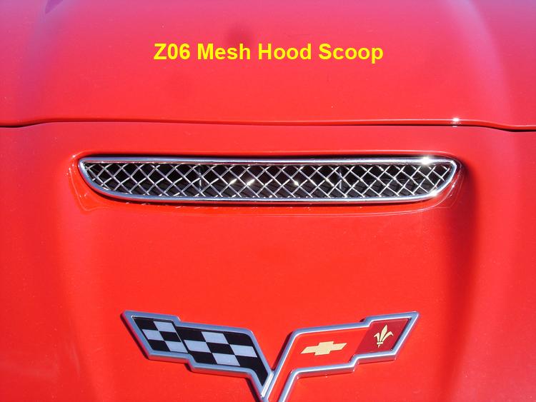 Z06 Mesh Hood Scoop close