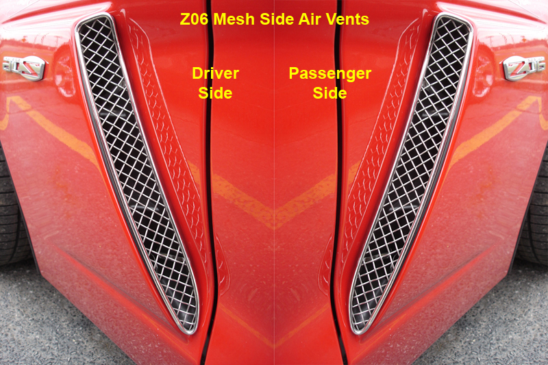Z06 Mesh Side Air Vent red-individual-pair- 800