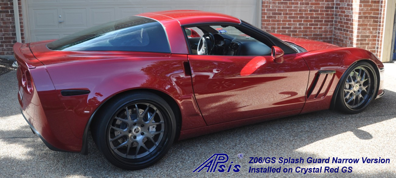 Z06 Narrow Splash Guard installed on crystal red-from bob hola-1 crop