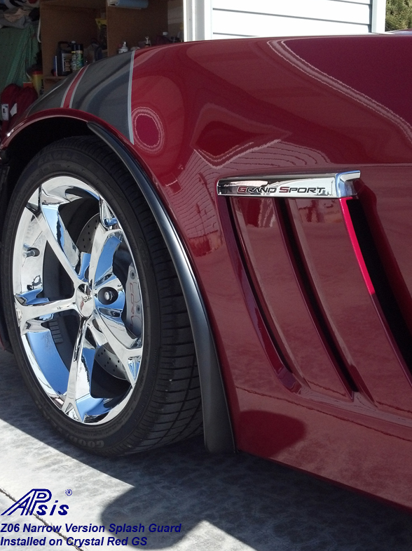 Z06 Narrow Splash Guard installed on crystal red-from cliff bates-1 crop