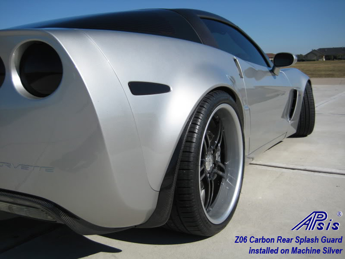 Z06 Rear Splash Guard-carbon-installed on machine silver-pass