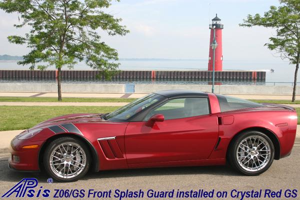 Z06 Splash Guard installed on crystal red GS-1
