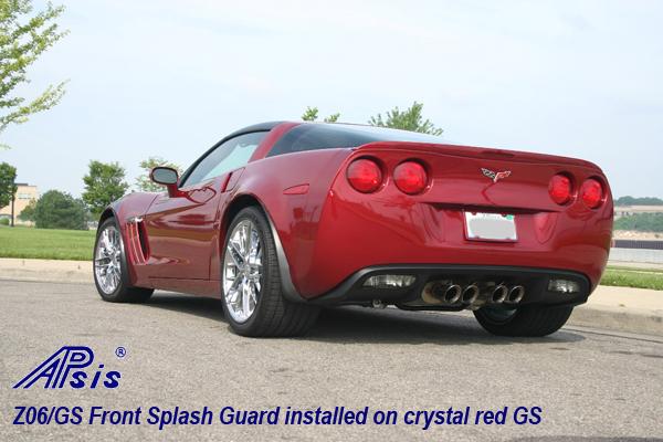 Z06 Splash Guard installed on crystal red GS-3