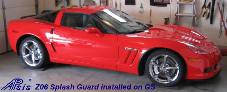 Z06 Splash Guard installed on red GS-3