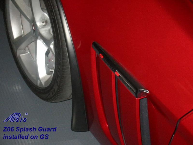 Z06 Splash Guard installed on red GS-4