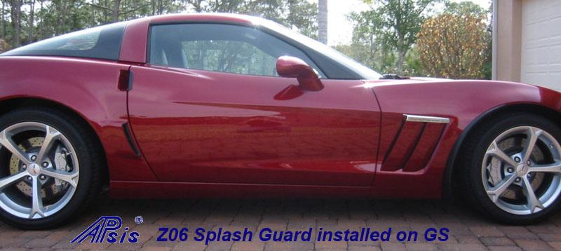 Z06 Splash Guard installed on red GS-5