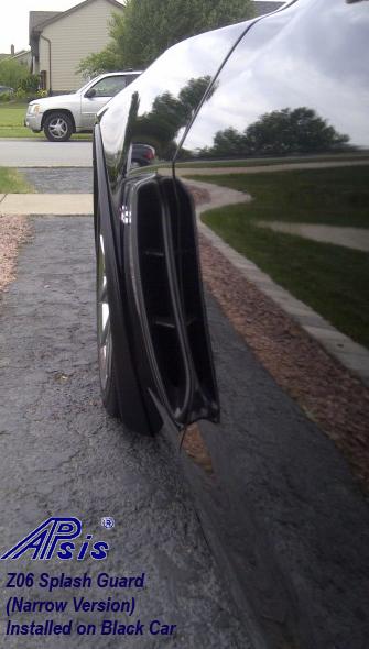 Z06 Splash Guard-narrow-installed on black car-4