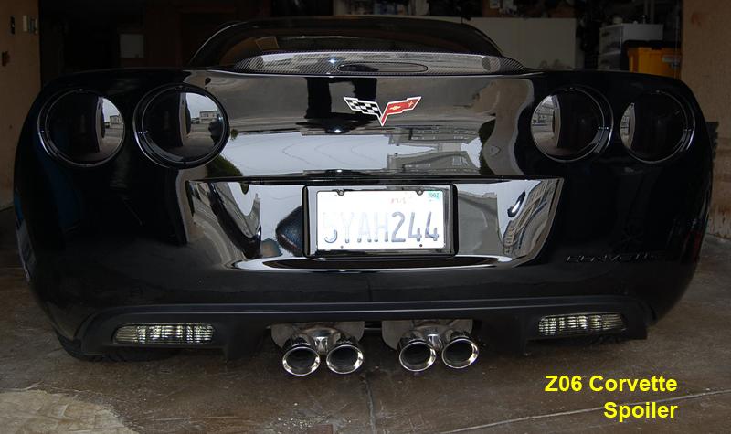 Z6 Corvette Black CF-Spoiler-installed on black car-2