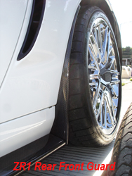 ZR1 CF Rear Front Guard-installed on white car-1-driver