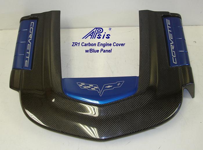 ZR1 Engine Cover w-blue panel w-o arrow-2