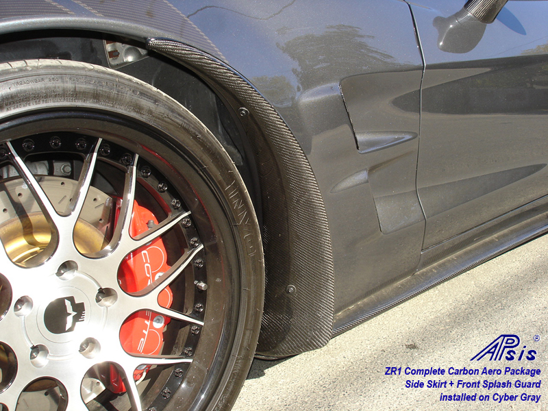 ZR1 Front Splash Guard-carbon-installed on CG-driver-front view-1 w-flash