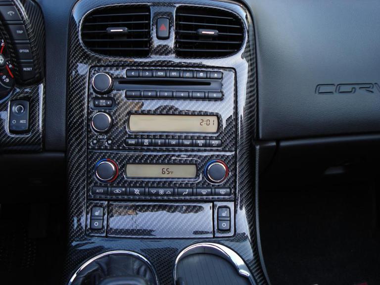 C6 Black Carbon Parts Interior Radio Bezel Apsisusa