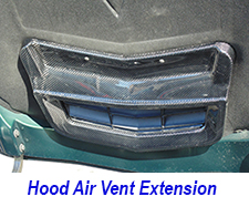 hood air vent extension 225